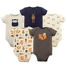 Amazon.com: Hudson Baby Baby Bodysuits, 5 Pack: Clothing