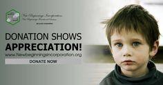 Donation shows appreciation! http://newbeginningsincorporation.org/