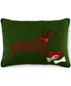 CLOSEOUT! Martha Stewart Collection Dacshund Decorative Pillow, Only at Macy's