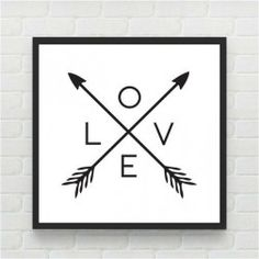 Quadro Love Flecha Branca by Print & Co