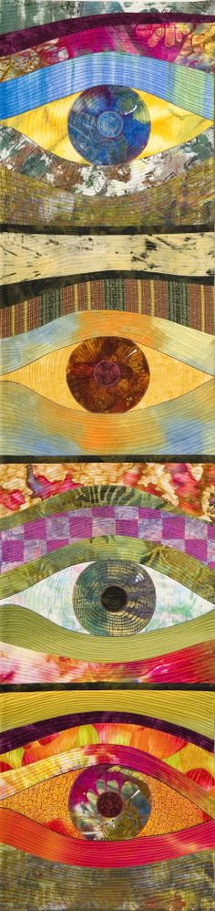 'The Ayes Have It'  by Chris Behersing.  Judge's Choice award. Auckland Quilt Guild Inc. Festival of Quilts 2014.