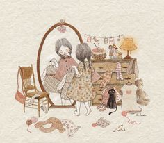 Image discovered by Naty. Find images and videos about girl, cute and art on We Heart It - the app to get lost in what you love. Adorable Petite Fille, Belle And Boo, Buch Design, Pics Art, Japanese Embroidery, Korean Artist, Cute Images, Children's Book Illustration, Whimsical Art