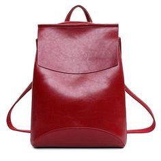 Famous Brand Backpack Women Backpacks Solid vintage School Bags for Girls black leather backpack mochilas mujer 2016 Vintage Leather Backpack, Leather Laptop Backpack, Black Leather Backpack, Backpack Bags, Leather Backpacks, Pu Leather, Fashion Backpack, Travel Backpack, Casual Backpacks