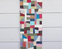 Items similar to pojagi, bojagi, korean patchwork, wall hanging, handmade,frame art, wrapping cloth on Etsy