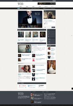 Wordpresテーマのサイト。モノトーンでかっこいい。