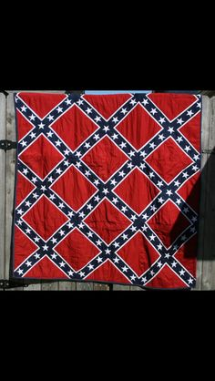 Handmade confederate flag quilt $500 00 | Crafts | Pinterest ... : confederate flag quilt pattern - Adamdwight.com