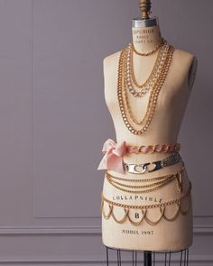 This link of for making jewelry but I love how dressed up the Mannequin is.