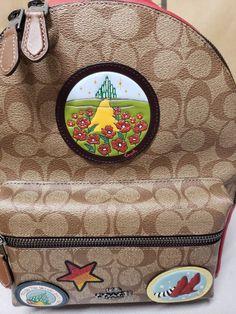 New COACH Signature Charlie Backpack Wizard Of Oz Ruby Slippers Medium NWT   425.0  coach  handbag cd29112005a12