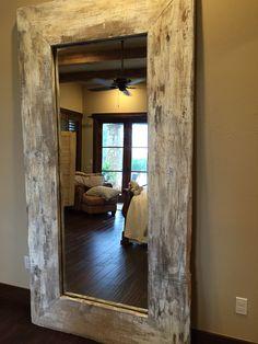 Spiegel mit einem rahmen aus treibholz neu bei richhome dekoration accessoires pinterest - Rustikaler spiegel ...