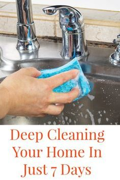 These are easy was for Deep Cleaning Your Home in Just 7 Days!! It is crazy how easy this can be to do and also to maintain. Deep Cleaning Tips, Household Cleaning Tips, Toilet Cleaning, House Cleaning Tips, Natural Cleaning Products, Cleaning Solutions, Spring Cleaning, Cleaning Hacks, Cleaning Checklist