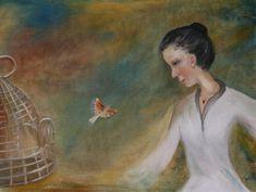 Original Women Painting by Meil Ildiko Mecseri Woman Painting, Oil Painting On Canvas, Canvas Art, Original Art, Original Paintings, Medium Art, Buy Art, Freedom Bird, Saatchi Art