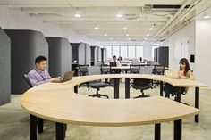 individual workspaces on the side http://malcew.com/Co_working-space