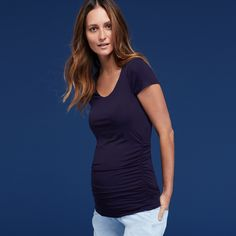 The Maternity Cap Scoop Top | Isabella Oliver
