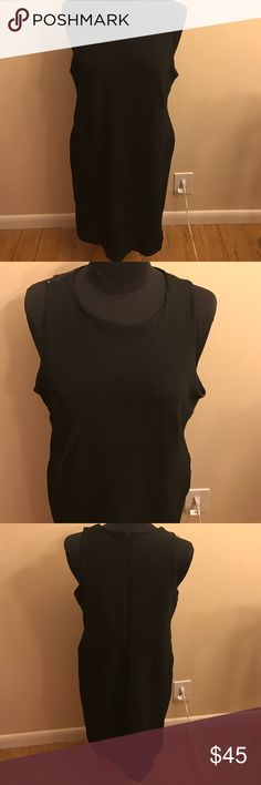 Ann Taylor black dress Sleeveless black dress with zipper back. Very stretchy! This dress would be great for the office, a night out or even a formal event! Ann Taylor Dresses