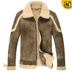 Men's Sheepskin B3 Leather Bomber Jacket CW860221 $1585.89 - www.cwmalls.com