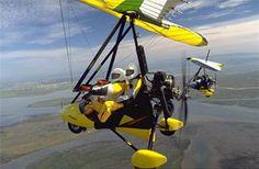 Fly in a microlight plane