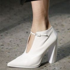 330843e4fcc Classy Women s White Commuting Pointy Toe Block Heel Vintage Shoes you best  choice for Work