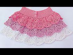 Skirt of Pineapples to Crochet Very Easy Step by Step – Crafting Time Baby Girl Crochet, Crochet Baby Clothes, Crochet For Kids, Crochet Skirt Pattern, Knit Crochet, Crochet Patterns, Tutorial Crochet, Moda Crochet, Vestidos Bebe Crochet