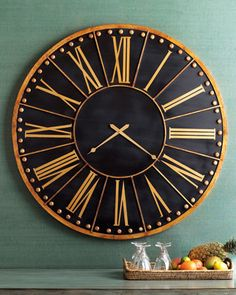 Oversized Wall Clock at Horchow.