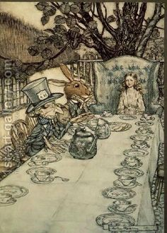 illustration of Mad Hatters Tea Party