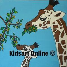 Giraf mother and daughter_Giraffen moeder en dochter