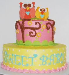 Happi Owl Cake ~ NutMeg Confections