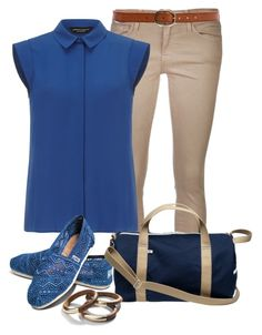 """""""2 tone"""" by emzirich ❤ liked on Polyvore featuring Frame Denim, Linea Pelle, Dorothy Perkins and TOMS"""