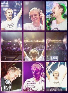 Armin van Buuren lives with such passion! He always has a smile.