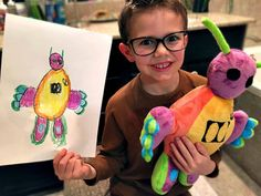 The Original Budsies: Custom-made stuffed animal from any drawing - Each Budsie is skillfully made by an artist by hand - Perfect way to treasure a