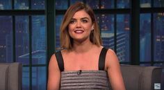 ".@LucyHale to @LateNightSeth on the @ABCFpll finale: ""I don't know how they came up with it"" http://trib.al/DcbBv7y"