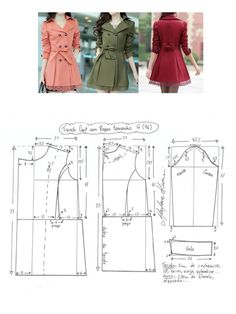 Amazing Sewing Patterns Clone Your Clothes Ideas. Enchanting Sewing Patterns Clone Your Clothes Ideas. Coat Patterns, Dress Sewing Patterns, Clothing Patterns, Vogue Patterns, Make Your Own Clothes, Diy Clothes, Clothes For Women, Fashion Sewing, Diy Fashion