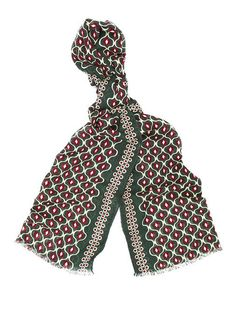 A light wool scarf featuring a unique vintage-inspired print. Made in Italy, this piece features rolled edges and an unfinished hem at each end. Aquascutum, Designer Scarves, Wool Scarf, British Style, Unique Vintage, Wallets For Women, Designing Women, Women's Accessories, Vintage Inspired