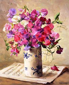 Бал цветов от Anne Cotterill.. - запись пользователя veda (Елена Бельская) в сообществе Картинки для творчества в категории Цветы и натюрморты
