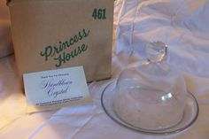 Princess House ** Heritage ** Round ** 2 Piece ** Butter / Cheese Dish ** #461