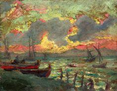 fleurdulys:  Boats on the Shore - Kimon Loghi