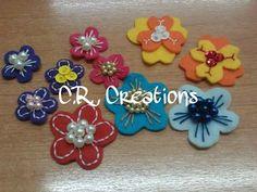 fiori in pannolenci #fiori #flowers #crcreations #felt #handmade