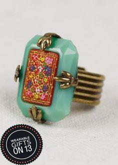 Grandmother's Buttons - Japanese Glass #wearablegifts