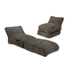 Ambient Lounge Conversion Lounger - Luscious Grey by Ambient Lounge at Bouf.com
