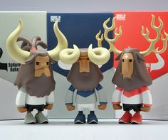 "Coolrain Studio's ""Baby Horns Series"" from Mighty Jaxx's Plastic Foundry!"