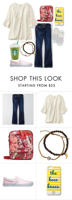 """""""1972 OMG"""" by ava-navarrrroo ❤ liked on Polyvore featuring American Eagle Outfitters, Vera Bradley, Tai, Vans, Draper James and Happy Socks"""