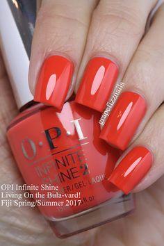 Grape Fizz Nails: OPI Infinite Shine Fiji Spring/Summer On the Bula-vard! Great Nails, Fabulous Nails, Gorgeous Nails, Love Nails, My Nails, Essie Nail Colors, Nail Polish Colors, Simple Nail Art Designs, Nail Designs