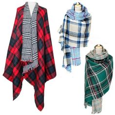 Scottish Tartan plaid reversible oversized scarf/shawl.
