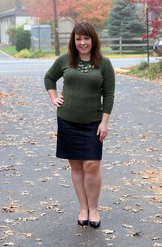 """Easy way to incorporate skirt into """"uniform"""" - wear tights to stave off hypothermia."""