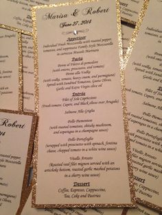 GLITTER MONOGRAMMED Programs - Personalized Wedding or Special Event Programs on Etsy, $2.50