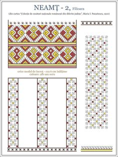 Semne Cusute: ie MOLDOVA, Neamt, Filioara Folk Embroidery, Embroidery Patterns, Cross Stitch Patterns, Wedding Album Design, Simple Cross Stitch, Moldova, Needle And Thread, Beading Patterns, Needlepoint