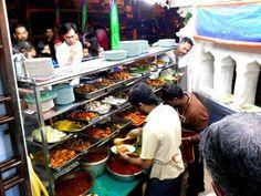 Photos from Penang - Curry Supper at Nasi Kandar Beratur. Night shift starts at 10:20pm, better than day shift. - CHOW  Nasi Kandar Beratur  Restoran Liqayat Ali  98 Jalan Masjid Kapitan Keling (Pitt Street)  10200 Georgetown  Penang