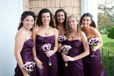 Our wedding: Dan & Becky    picasso calla lilies/purple throat