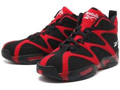 Reebok Kamikaze 1 Mid's in Red & Black