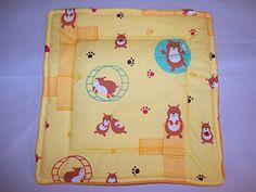 "Cute Hamster Fleece/Cotton Guinea Pig Lap Pad Bed Rabbit Ferret Hedgehog Rat 11"" x 11'' Guinea Pig Paradise http://www.amazon.com/dp/B00Y76U9TA/ref=cm_sw_r_pi_dp_65Jyvb0KXS783"