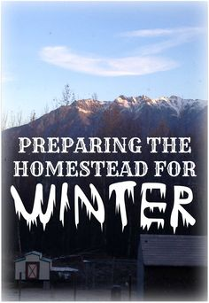 It's that time of year! Snow is coming soon in Alaska. Lots of preparation needs to happen. Come see our checklist for winterizing the homestead!